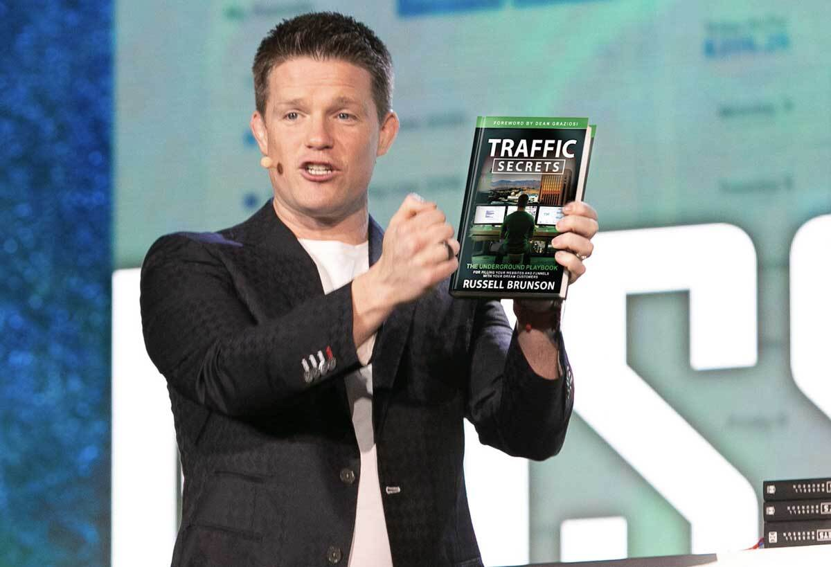 Russell Brunson Holding Traffic Secrets